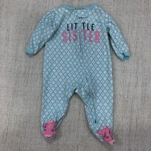 Carter's Little Sister Footed Pajama 3M
